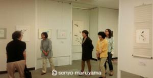 書道 筆文字 展示会 梅田 芝田町画廊 丸山茜葉 デザイン書道 生徒展