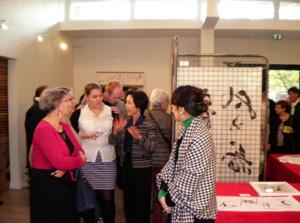 フランス サンシール トゥール 展示会 書道 calligraphy france exhibition 丸山茜葉 デザイン書道 展示会