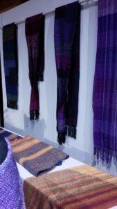 神戸 神戸酒心館 日本の手仕事展 山口啓子 染織 織 ストール ランチョンマット 手作り 工芸